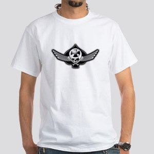 Winged Maltese Skull of Spades Biker Black T-Shirt