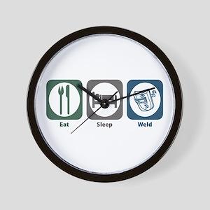 Eat Sleep Weld Wall Clock