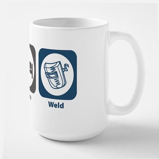 Eat Sleep Weld Large Mug