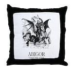 Abigor Throw Pillow