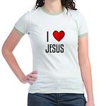 I LOVE JESUS Jr. Ringer T-Shirt