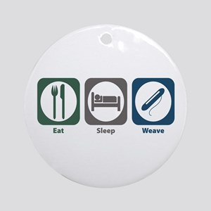 Eat Sleep Weave Ornament (Round)
