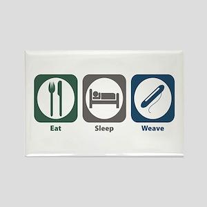 Eat Sleep Weave Rectangle Magnet