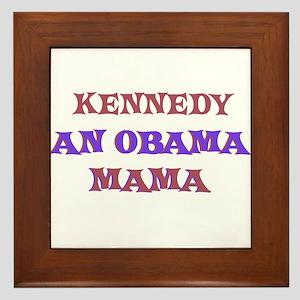 Kennedy - An Obama Mama Framed Tile