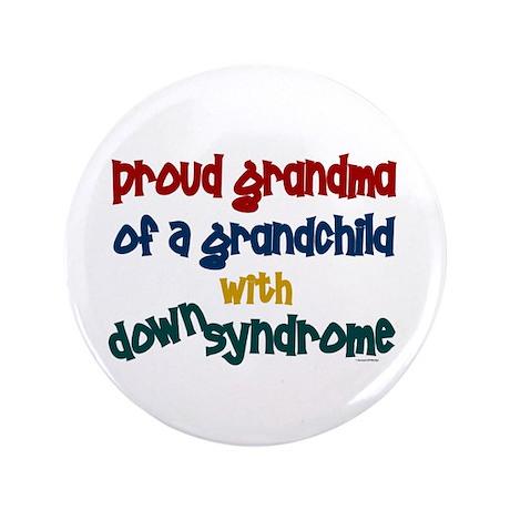 """Proud Grandma....2 (Grandchild DS) 3.5"""" Button (10"""