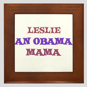 Leslie - An Obama Mama Framed Tile