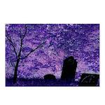 Purple Graveyard Postcards (Package of 8)