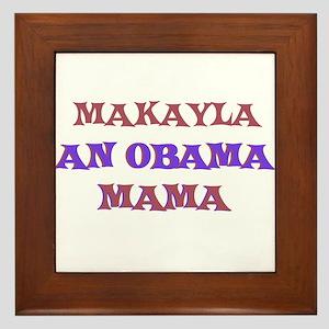 Makayla - An Obama Mama Framed Tile