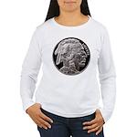 Silver Indian Head Women's Long Sleeve T-Shirt