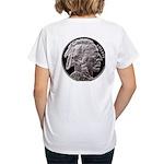 Silver Indian Head Women's V-Neck T-Shirt