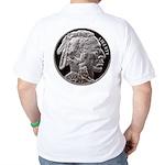Silver Indian Head Golf Shirt