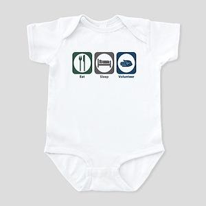 Eat Sleep Volunteer Infant Bodysuit