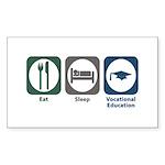 Eat Sleep Vocational Education Rectangle Sticker