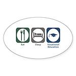 Eat Sleep Vocational Education Sticker (Oval 50 pk