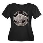 Silver Buffalo Women's Plus Size Scoop Neck Dark T
