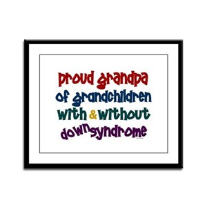 Proud Grandpa....2 (With & Without DS) Framed Pane