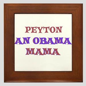 Peyton - An Obama Mama Framed Tile