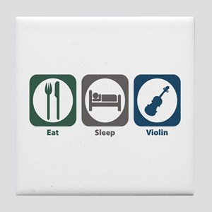 Eat Sleep Violin Tile Coaster