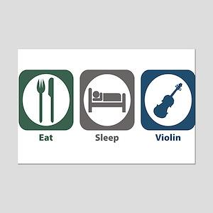 Eat Sleep Violin Mini Poster Print