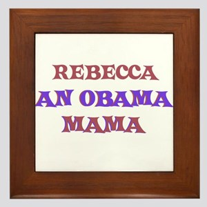 Rebecca - An Obama Mama Framed Tile