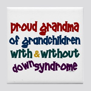 Proud Grandma....2 (With & Without DS) Tile Coaste