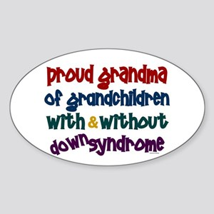 Proud Grandma....2 (With & Without DS) Sticker (Ov
