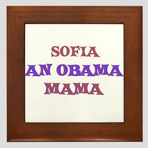 Sofia - An Obama Mama Framed Tile