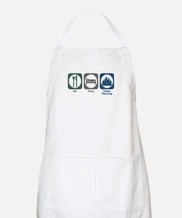 Eat Sleep Urban Planning BBQ Apron