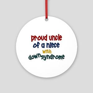 Proud Uncle....2 (Niece DS) Ornament (Round)