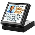 Al Gore climate change Keepsake Box