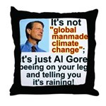 Al Gore climate change Throw Pillow