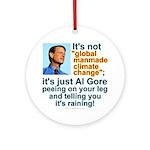 Al Gore climate change Ornament (Round)