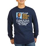 Al Gore climate change Long Sleeve Dark T-Shirt
