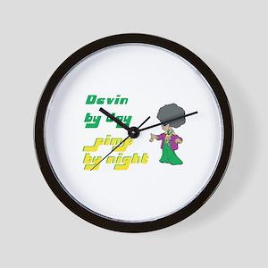 Devin - Pimp By Night Wall Clock