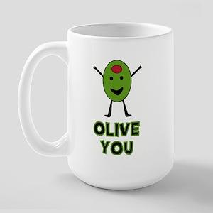 Olive You - I Love You Large Mug
