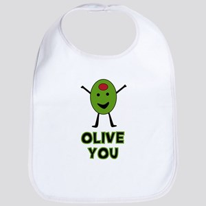 Olive You - I Love You Bib