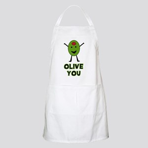 Olive You - I Love You BBQ Apron