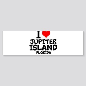 I Love Jupiter Island, Florida Bumper Sticker