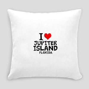 I Love Jupiter Island, Florida Everyday Pillow