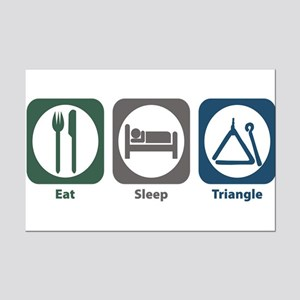 Eat Sleep Triangle Mini Poster Print