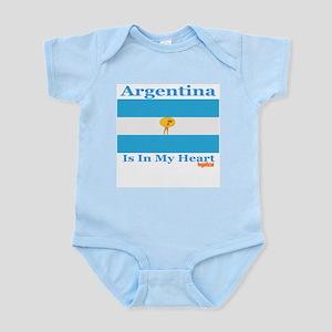 Argentina - Heart Infant Bodysuit