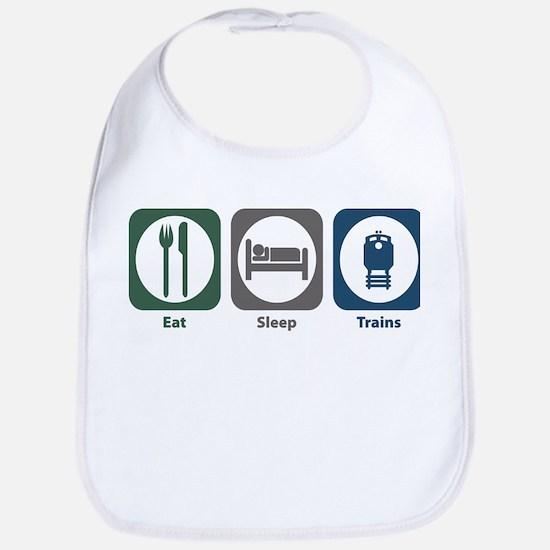 Eat Sleep Trains Bib
