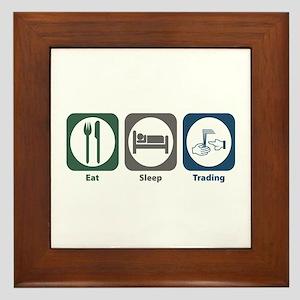 Eat Sleep Trading Framed Tile