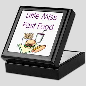 Little Miss Fast Food Keepsake Box
