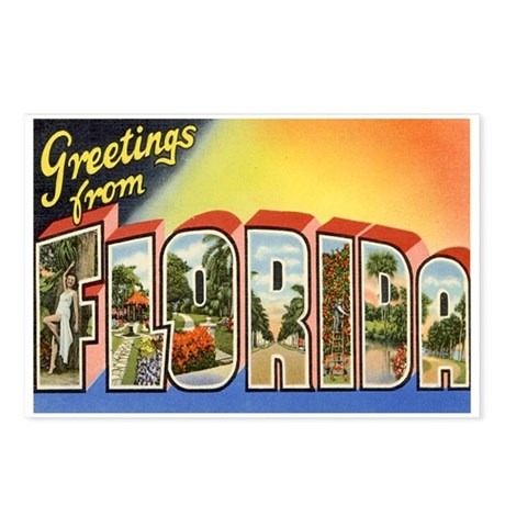 Florida Postcard Postcards (Package of 8)