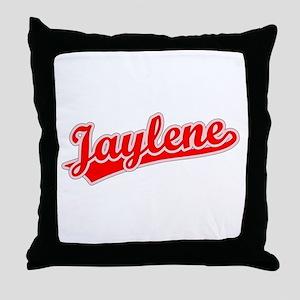 Retro Jaylene (Red) Throw Pillow