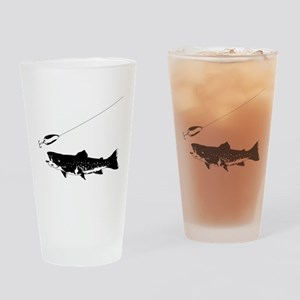 Black Trout Drinking Glass