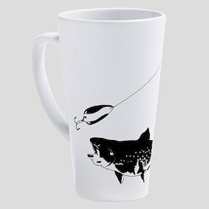 Black Trout 17 oz Latte Mug