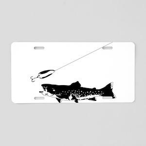 Black Trout Aluminum License Plate