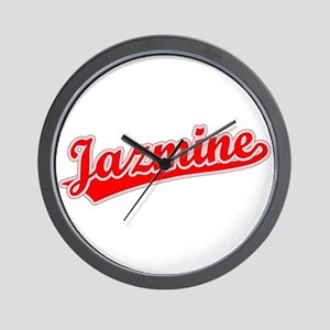 Retro Jazmine (Red) Wall Clock